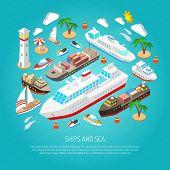 Постер, плакат: Sea and ships concept