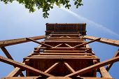 stock photo of observed  - Lookout tower designed for the observation of animals - JPG