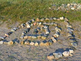 stock photo of dialect  - Stone labyrinth in the Solovetsky Islands - JPG