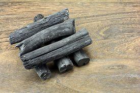 stock photo of charcoal  - Japanese high - JPG