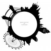 Ring - London Skyline - Vector
