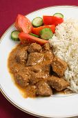 Beef Korma And Rice Vertical
