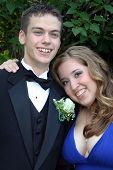 Smiling Prom Couple Portrait 2