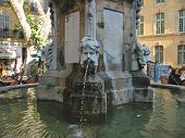 Artistic Water Fountain, Aix,En,Provence, Marseille, France