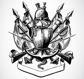 Vector Medieval Military Crest