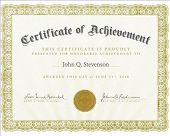stock photo of certificate  - Vector certificate with sample and outlined text - JPG