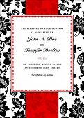 image of wedding invitation  - Vector floral background and frame with sample text - JPG