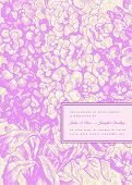Vector Lilac BVector ornate background and floral frame. Easy to edit. Perfect for invitations or an