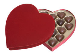 pic of valentine heart  - Romantic Valentines Day gift heart chocolates isolated - JPG