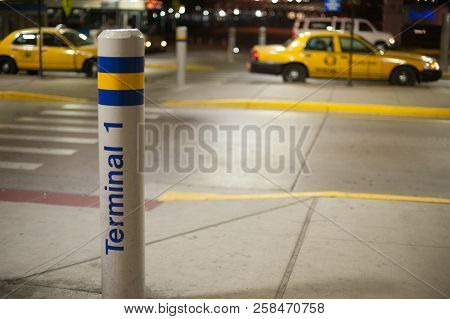 Pole With Terminal 1 At