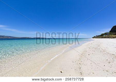 A Beautiful Empty Beach On