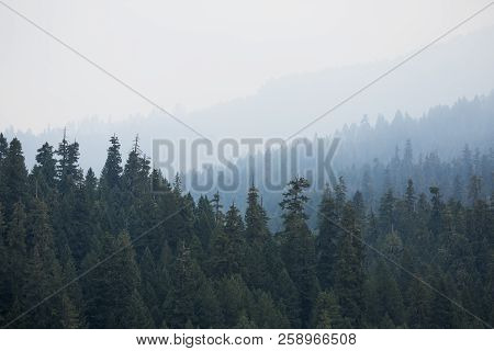 Smoke Covered Mountains From The