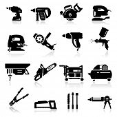 foto of air paint gun  - Icons set Industrial Tools - JPG