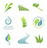 vector logo elements set 2- environmental