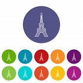 Eiffel Tower Icon. Outline Illustration Of Eiffel Tower Icon For Web poster