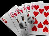 Royal Flush With Dice
