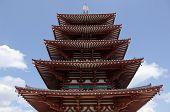 Fünf Etagen-Pagode des Shitennoji-Tempel In Osaka