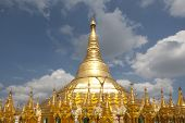 Pagoda de Shwedagon, Rangoon, Birmania