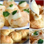 Fresh Baked Pastry Collage