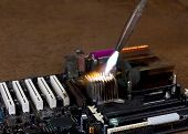 Overheating A Heat Sink On Computer Board