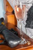 Adultery. Extramarital Illicit One-night Stand Affair After A Drunken Party. Black Lace Stockings, S poster