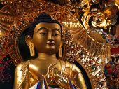 Gilded Tibetan Buddha statue