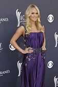 LAS VEGAS - APRIL 3 - Carrie Underwood attends the 46th Annual Academy of Country Music Awards in La