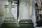 stock photo of life after death  - Old cross in a cemetery - JPG