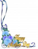 Mothers Day Corner Design Blue Roses