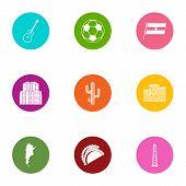 Evening Nurse Icons Set. Flat Set Of 9 Evening Nurse Vector Icons For Web Isolated On White Backgrou poster