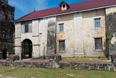 picture of pio  - exterior of the Baclayon church on Bohol Philippines - JPG