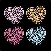 Flower Heart. Vector Illustration
