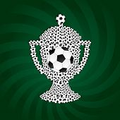 Football cup from balls. Vector illustration