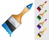 vector illustration of brush with paint