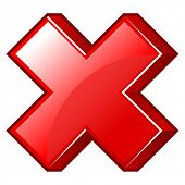 vector illustration of button exclude