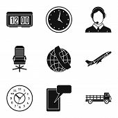 Production Target Icons Set. Simple Set Of 9 Production Target Icons For Web Isolated On White Backg poster