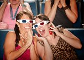 Animado mulheres assistir filmes 3D