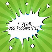 Handwriting Text Writing 1 Year 365 Possibilities. Concept Meaning Beginning Of A New Day Lots Of Ch poster