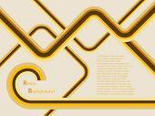 Una ilustración de fondo retro vector abstracto en tonos amarillo y marrón con una capacidad de copia