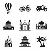 Cultural Distinction Icons Set. Simple Set Of 9 Cultural Distinction Icons For Web Isolated On White poster