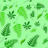 A seamless spring and summer floral vector background illustration which can be tiled.