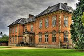 An HDR image of the seventeenth century stately home Tredegar House which is a first class example of a red brick mansion