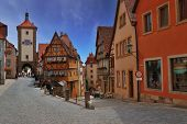Medieval town of Rothenburg in Bavaria