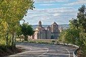 Poblet Monastery , Spain, view from the road
