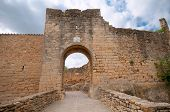 Entrance to the medieval city of Pals, Spain