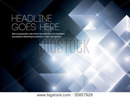 Постер, плакат: вектор абстрактного украшения фона, холст на подрамнике