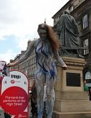 EDINBURGH- AUGUST 11: Member of Squeaky Door Production Company publicize their show Tempest during