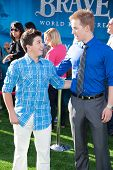 HOLLYWOOD, CA - JUNE 18: Bradley Steven Perry and Jason Dolley arrive at the Los Angeles Film Festiv