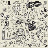 antique crazy doodles