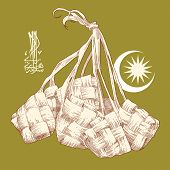 picture of jawi  - Hand Drawn Ketupat - JPG
